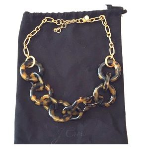 J Crew Tortoise Shell Link Necklace